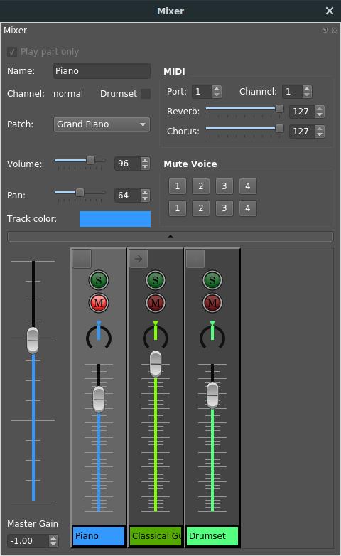 l'audio mixer, un outil fort bien pratique